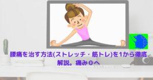 腰痛を治す方法(ストレッチ・筋トレ)を1から徹底解説。痛み0へ