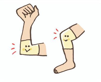 肘が痛い(外側)時のサポーター