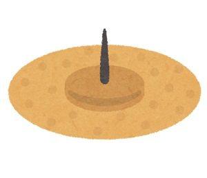 眼輪筋を刺激する(円皮鍼)